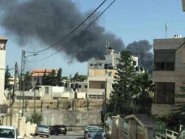 حرق  ثلاث سياراتفي قاعة الربيع ببلدة الرام