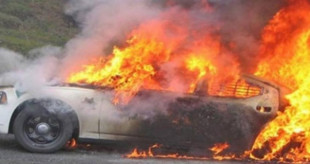 القاء زجاجة حارقة في محافظة قلقيلية على مركبة مواطن