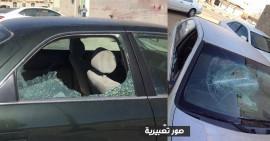 تحطيم سيارة المواطن محمد أبو سعدة في أريحا
