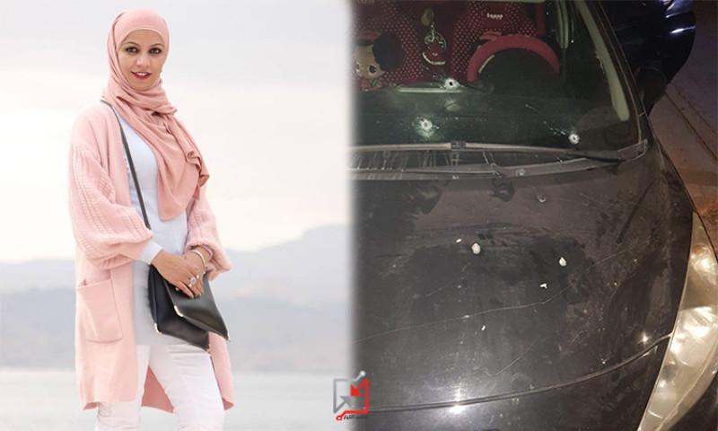 تعرض المواطنة ميساء أبو عيشة لاطلاق نار على مركبتها