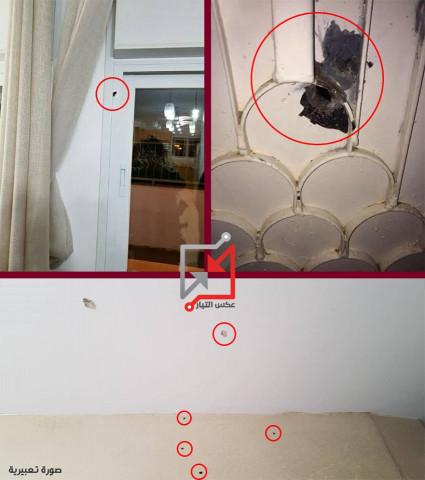"""مجهولون يطلقون النار على منزل المواطن """"عمار يوسف دويكات"""""""