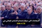 الارهاصات التي سبقت اجتماع المجلس الوطني في 30/4/2018