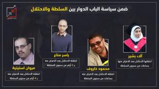 4 مواطنين يتم تسليمهم من سجون السلطة للاحتلال خلال أسبوع واحد