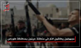 مجهولون يطلقون النار في منطقة عينون بمحافظة طوباس