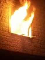 حرق جزء من منزل المواطن/راشد عطية ابو شاهين