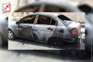 مجهولون يحرقون سيارة المواطن قصي ذيب فى رام الله