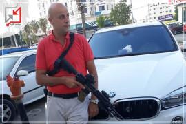 الضابط في  الوقائي/ فراس محمد سليمان صباح يطلق النار على المواطنين