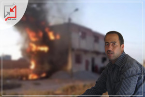 مجهولون يحرقون منزل المواطن سامي قنيص فى بيت لحم