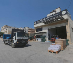 اطلاق نار أمام شركة الميمي الكبرى لمواد البناء في رام الله