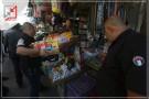 حملة ازلة التعديات والبسطات من قبل قسم الحراسة والتفتيش وسط نابلس