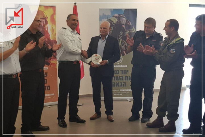 تدريبات مشتركة بين الدفاع المدني الفلسطيني وقوات الإحتلال