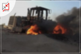 مجهولون يطلقون النار على جرافة المواطن مؤيد زايد في جنين
