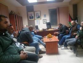 إجتماع تحضيري لانتخابات الإقليم داخل مكتب رئيس البلدية بعلار في محافظة