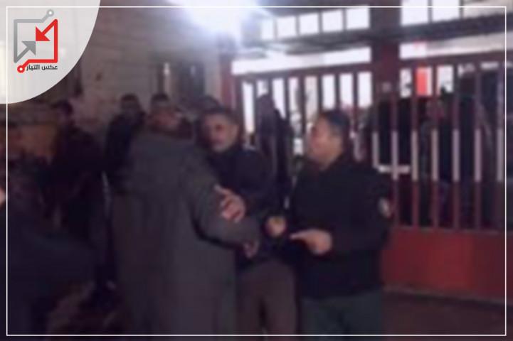شباب مخيم الدهيشة  يهاجمون وفداً إسرائيلياً تواجد بمقر الدفاع المدني ببيت لحم