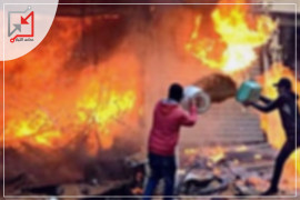 مجهولون يحرقون محل خضروات السيوري في أريحا