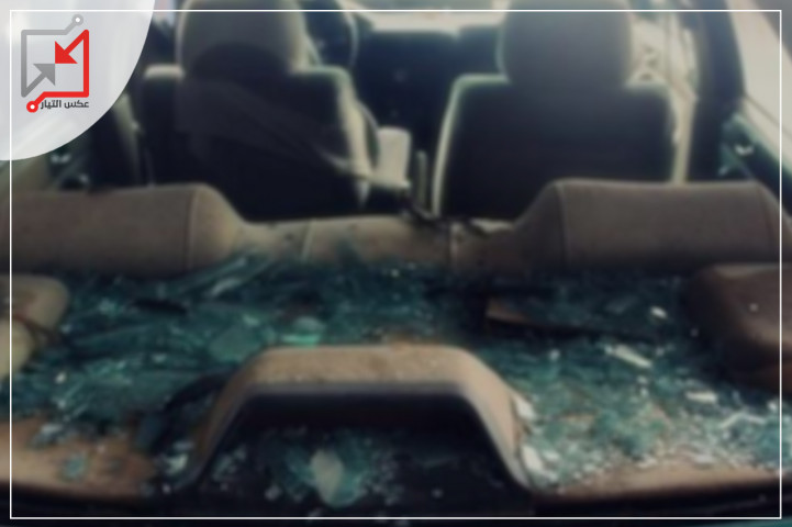 مجهولون يعتدوت على المواطن محمد ارتاح ويحطمون المركبة التى كان يستقلها