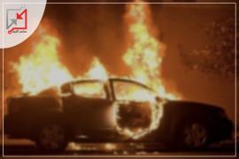مجهولون يحرقون سيارة تعود للمواطن علاء زلوم في الخليل