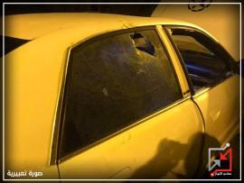 تحطيم لسيارات في البيرة والشرطة تقول المعتدين مجهولين !