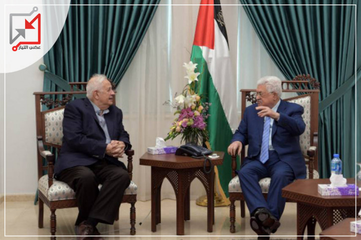 حصري رئيس لجنة الانتخابات المركزية الفلسطينية حنا ناصر يلتقي عباس أمس