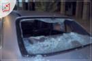 مجهولون يقومون بتكسير زجاج سيارة تعود للمواطن هشام نصار في جنين