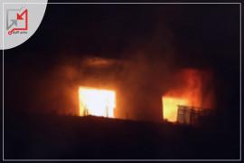 مجهولون يعتدون على منزل المواطن ثائر النواف في مخيم الفارعة