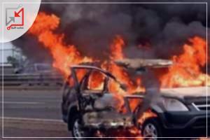 مجهولون يلقون زجاجات حارقة علي سيارة المواطن جهاد أبو صبحة