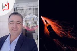 مجهولون يلقون زجاجات حارقة على منزل المحامي عامر صفدي في نابلس
