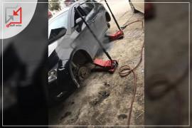 مجهولون يعتدون على سيارات المواطنين في نابلس