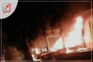 مجهولون يحرقون محلات قيد الإنشاء تعود للمواطن نظمي الفاخوري في الخليل