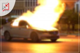 مجهولون يلقون زجاجات حارقة على سيارة المواطن حمزة شهوان في قلقلية