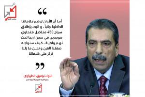 حصري لعكس التيار: اللواء توفيق الطيراوي يطالب بإطلاق سراح 450 مناضل فتحاوي معتقلين في سجن أريحا