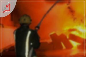 مجهولون يحرقون محل لبيع المفروشات يعود للمواطن عبد الرحمن البربراوي في الخليل