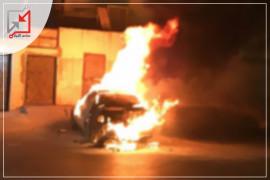 مجهولون يحرقون سيارة المواطن إياد حمدان في جنين