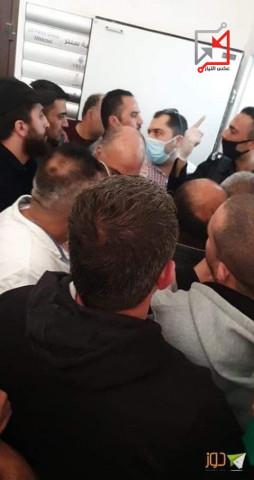 ازدحام في بنك القدس فرع رفيديا بنابلس