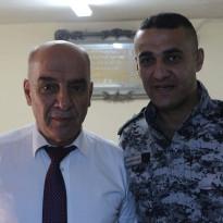 اللضابط في جهاز الضابطة الجمركية/ جليل عدنان الضميري يخرق حالة الطوارئ