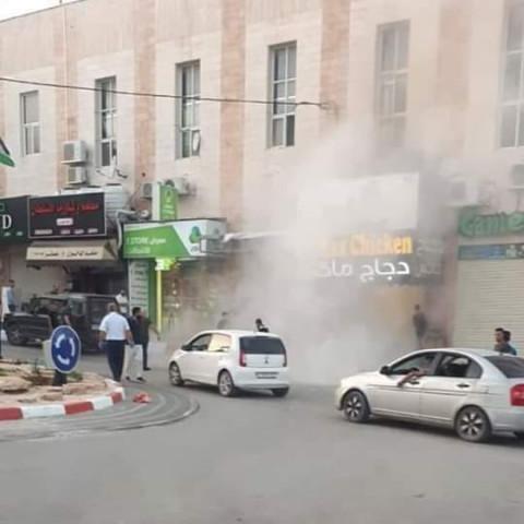انفجار اسطوانة غاز في مطعم بالقرب من استاد دورا الدولي قبل أذان المغرب.