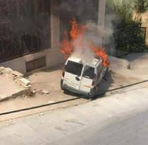 اطلاق نار وإحراق سيارات في الظاهرية