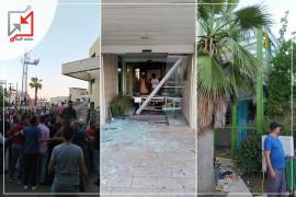 مواطنون غاضبون  يهاجمون مستشفى الجمعية العربية في بيت جالا بعد وفاة مريض إثناء عملية جراحية .