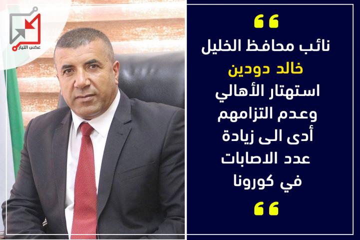 نائب محافظ الخليل: يحمل المواطنين مسؤولية التفشي الكبير لفيروس كورونا