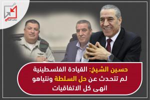 حسين الشيخ: القيادة الفلسطينية لم تتحدثعن حل السلطة ونتنياهوانهى كل الاتفاقيات