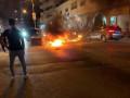 احتجاج الشبان في قباطية على محاولة الاجهزة الامنية اعتقال شابين