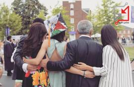 محمد اشتية مع بناته في أمريكا