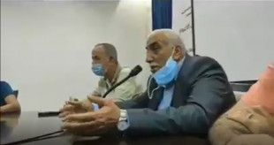 جهاد أبو العسل محافظ اريحا والأغوار يدعي ان أهل الخليل هم سبب انتشار فيروس كورونا لانهم يتصرفون فوق القانون
