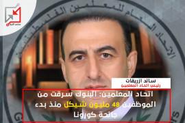 اتحاد المعلمين: البنوك سرقت من الموظفين 48 مليون شيكل
