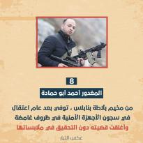 محمد أبو حمادة توفي داخل السجن بعد عام من الاعتقال في سجون الأجهزة الأمنية في ظروف غامضة