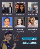 الطفل حسن أحمد أبوجزر لم تتعرف عليه دائرة العلاج بالخارج لانه ليس من عظام الرقبة
