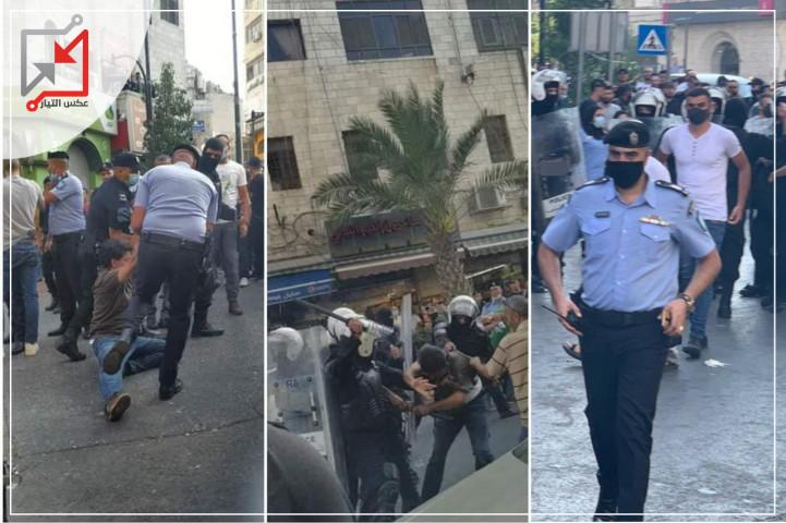 بالهروات وقنابل الغاز .. الاجهزة الأمنية تقمع  مسيرة للحراك الرافض لاتفاقية سيداو