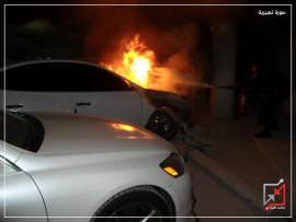 مجهولون يحرقون سيارة المواطن يوسف ابو عايد في طولكرم