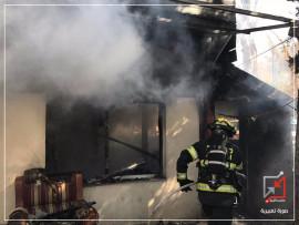 إحراق منزل المواطن رؤول هزيم عوة في نابلس