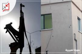 إطلاق النار على منزل المواطن/ عبد المعطي النتشة في الخليل